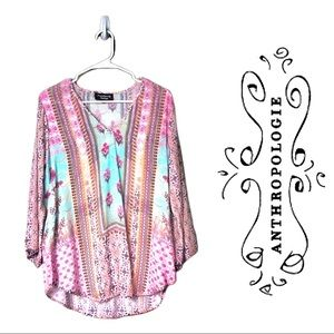 Anthropologie Feathers By Tolani Top-b7
